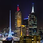 Melbourne City Lights by Nicole a Alley