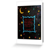 Black cat in the darkness. Greeting Card