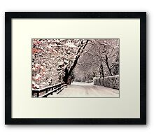 English Snow Scene Framed Print