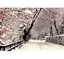 English Snow Scene Photographic Print