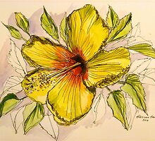 Yellow hibiscus. Hawaii. by Elizabeth Moore Golding