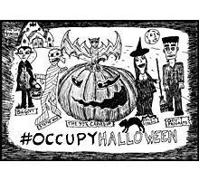 Occupy Halloween cartoon Photographic Print