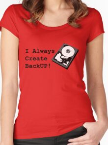 I always create BackUp! Women's Fitted Scoop T-Shirt