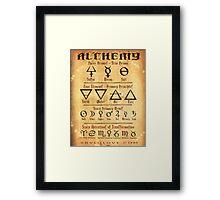 Alchemy Symbols Framed Print