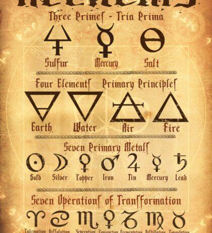 Alchemy Symbols Sticker