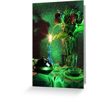 Green Tea Roses (still life) Greeting Card