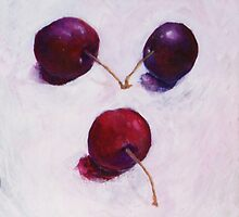 Three Cherries by Yvonne Taylor