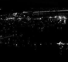 Hobart by night by Jocelyn  Parry-Jones