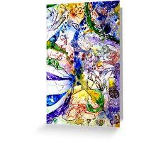 Yupo abstract Greeting Card