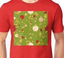Modern Christmas Golden Polka Dot pattern Unisex T-Shirt