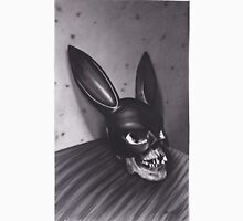 Realism Charcoal Drawing of Skull with Bunny Mask Unisex T-Shirt