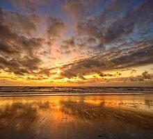 Sunset at Julianabeach by Hetty Mellink