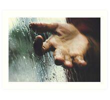 Rainy day woman Art Print