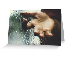 Rainy day woman Greeting Card