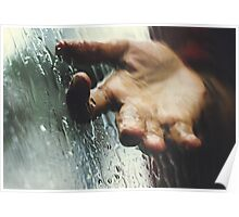 Rainy day woman Poster