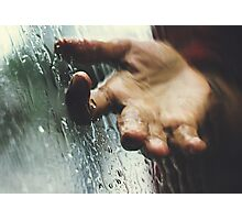 Rainy day woman Photographic Print