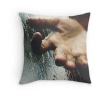Rainy day woman Throw Pillow