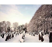 Gravestones & Snow Photographic Print
