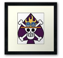 flag purple Framed Print