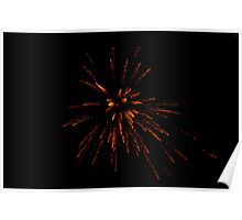 Fireworks in the sky Poster