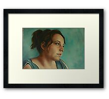 Anja, Daydreaming as Usual Framed Print