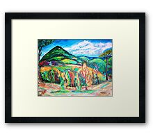Colorful Europe  Framed Print