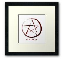 Pentacle Symbol - Blood Edition Framed Print