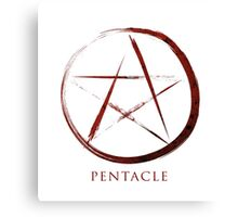 Pentacle Symbol - Blood Edition Canvas Print