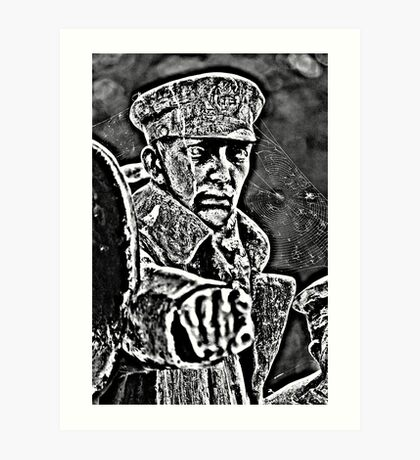 Port Sunlight Memorial Statue Art Print