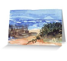 If you are lucky enough to be at the beach... Greeting Card