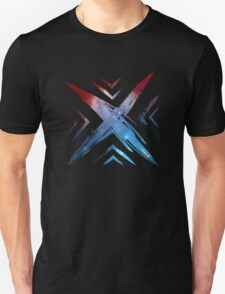 sign, symbol, ex, x, vintage, hand made, brush, abstract, black ink, typography, letter x, character x,  T-Shirt