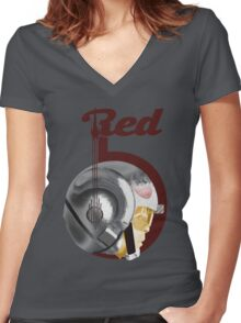 Red5 Women's Fitted V-Neck T-Shirt