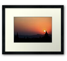 Sunset in Bagan Framed Print