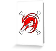 flag red Greeting Card