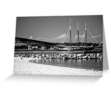 Black and White Landscape of Yorktown Beach Greeting Card