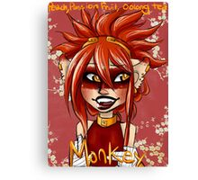 Monkey Oolong Peach and Passion Fruit Tea Canvas Print