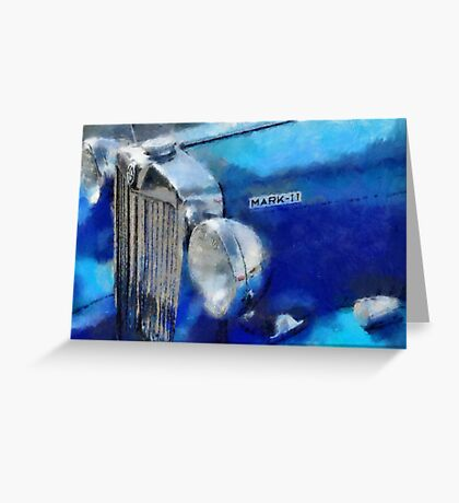 Blue MG Mark 2 Greeting Card