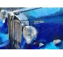 Blue MG Mark 2 Photographic Print