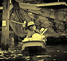 Floating Trader (Sepia) by Asif Patel