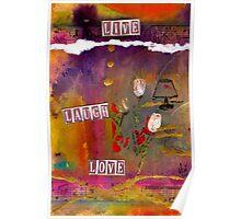 LIFE Lyrics and White Roses Poster