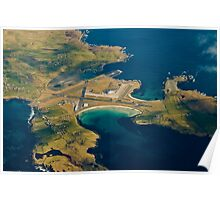 Sumburgh Airport from 10,000ft Poster