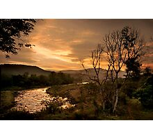 Sunset over the Umkomaas River, Kwazulu Natal, South Africa Photographic Print