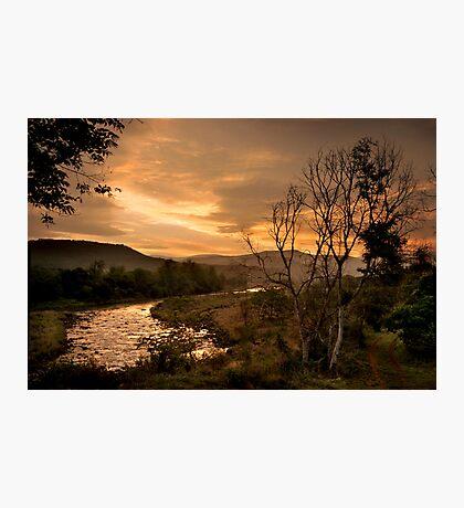 Sunset over the Umkomaas River, Kwazulu Natal, South Africa Photographic Print