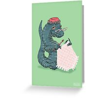 Lace monitor makes lace Greeting Card