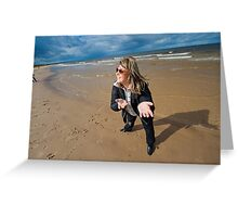 Adult woman at the sea Greeting Card
