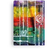 White Lines and Spirals Canvas Print
