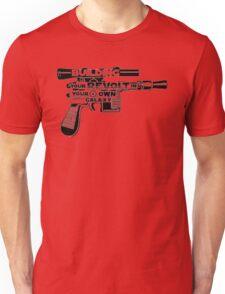 Gun Typography Unisex T-Shirt