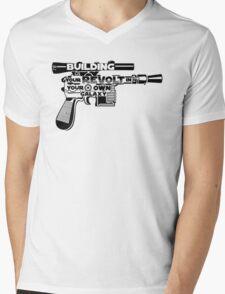 Gun Typography Mens V-Neck T-Shirt