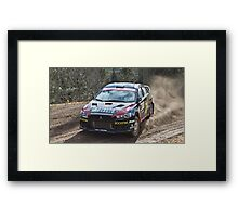 Rally Lancer Evo Drift Framed Print