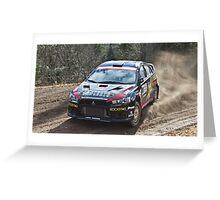 Rally Lancer Evo Drift Greeting Card